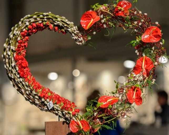Kwiaty na walentynki / źródło : www.fleurcreatif.com