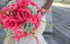 Bukiet ślubny z róż