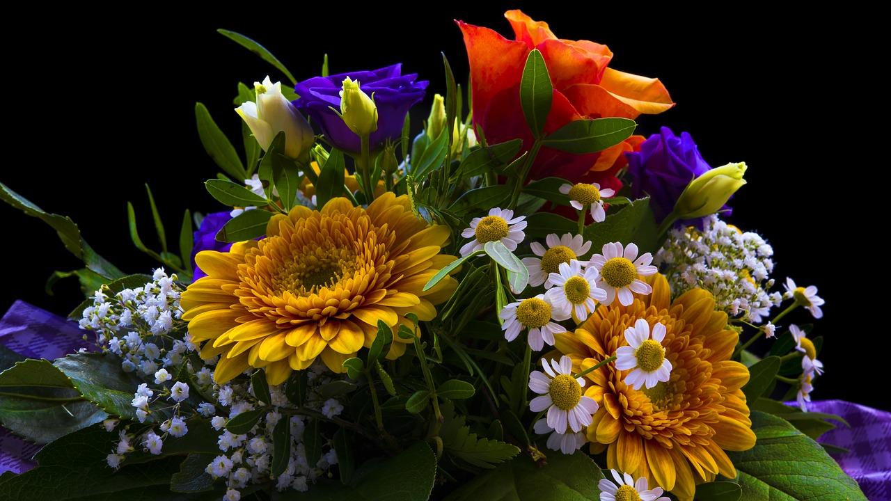 Kolorowe kwiaty na prezent
