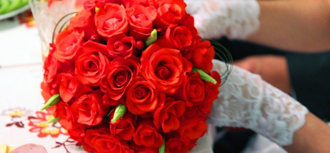 Bukiet z róż na ślub